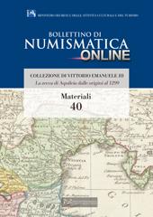 Bollettino di Numismatica on line - Materiali n. Numero 40 - 2016